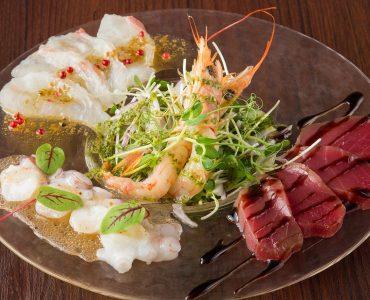 鮮魚のカルパッチョ盛り合わせ 1,080円(税抜)
